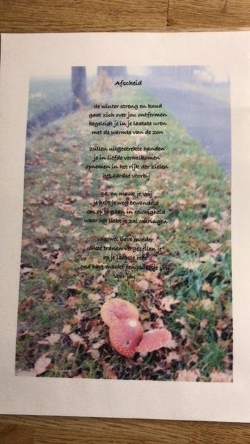 Afbeelding gedicht Afscheid